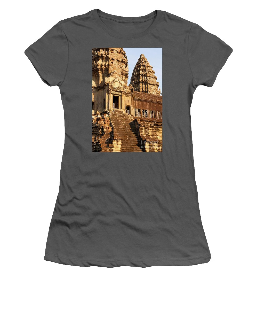 Cambodia Women's T-Shirt (Athletic Fit) featuring the photograph Angkor Wat 03 by Rick Piper Photography