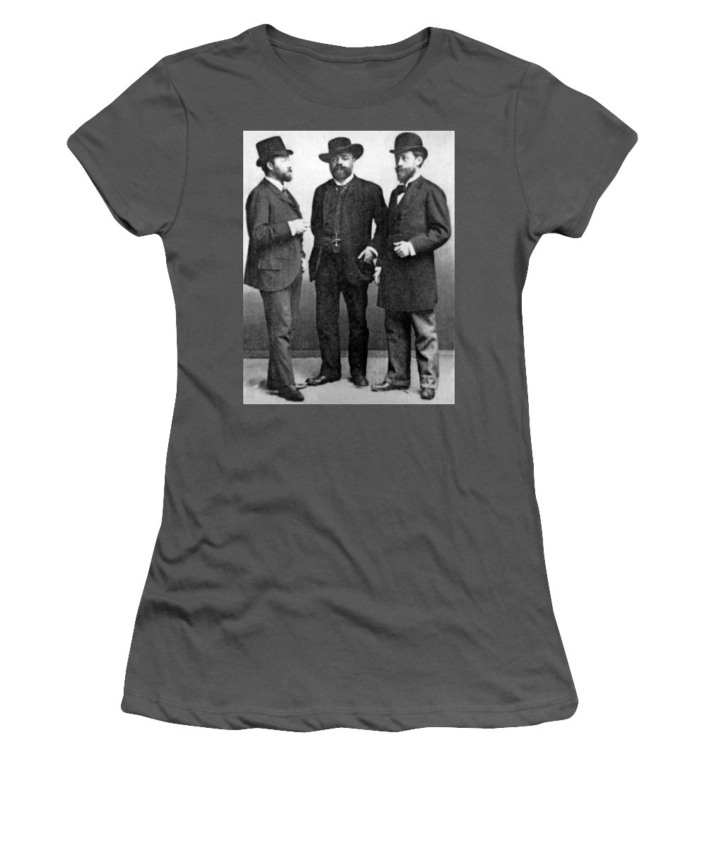 1892 Women's T-Shirt (Athletic Fit) featuring the photograph Antonin Dvorak, 1892 by Granger