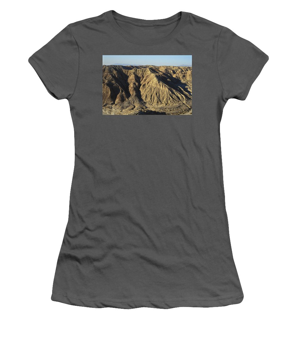 Rock Formation Women's T-Shirt (Athletic Fit) featuring the photograph Anza Borrego, California by Andrew J. Martinez