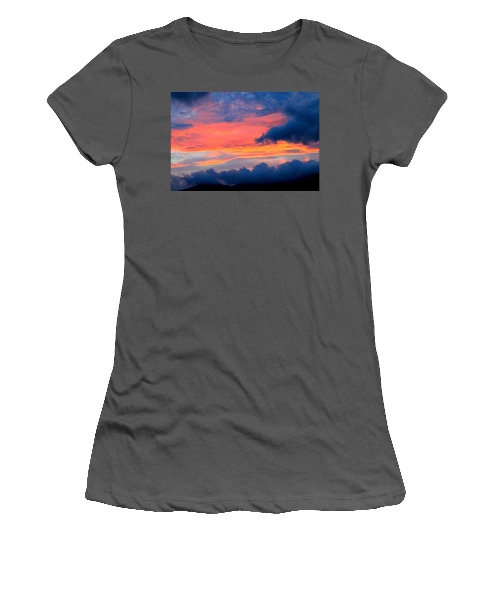 Landscape Women's T-Shirt (Athletic Fit) featuring the photograph Appalachian Sunset by Mary Koval