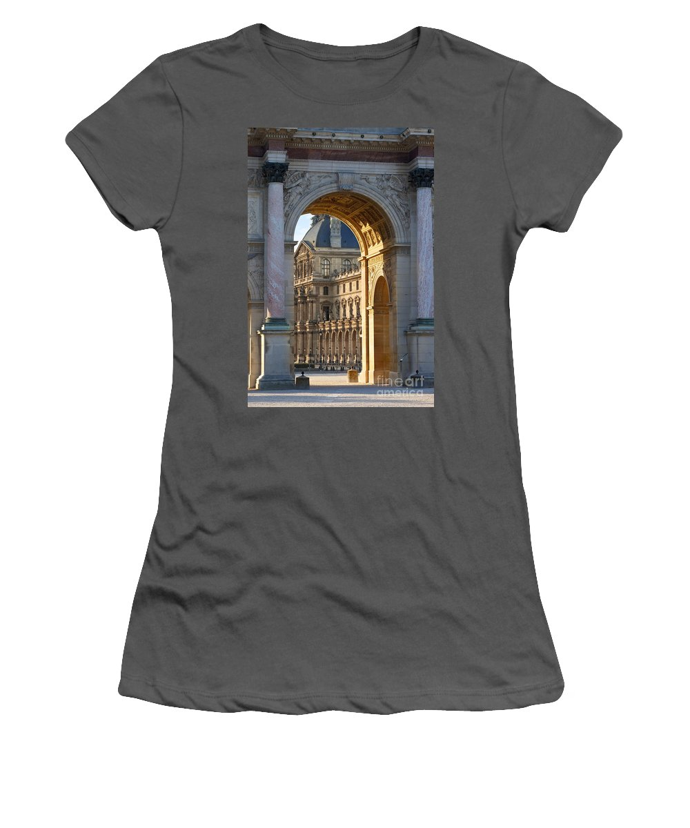 Arc De Triomphe Du Carrousel Women's T-Shirt (Athletic Fit) featuring the photograph Arc De Triomphe Du Carrousel by Brian Jannsen