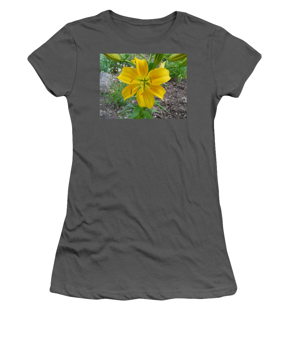 Flowers Women's T-Shirt (Athletic Fit) featuring the photograph Asiatic Lily 2 by Coleen Harty