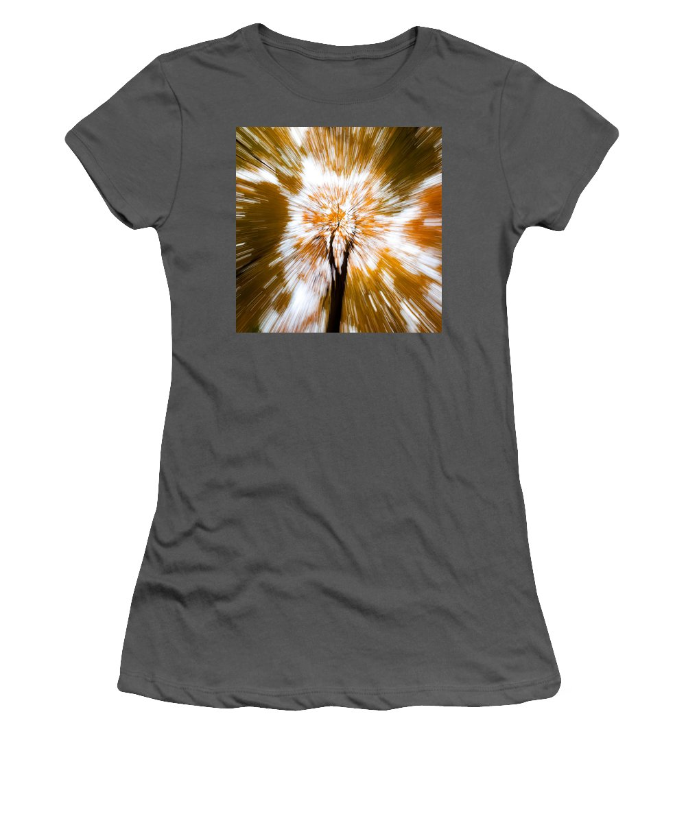 Autumn Woodland Women's T-Shirt (Athletic Fit) featuring the photograph Autumn Explosion by Dave Bowman
