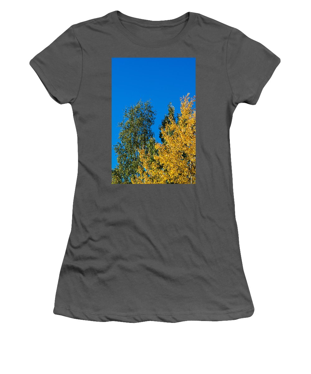 Abstract Women's T-Shirt (Athletic Fit) featuring the photograph Autumn Mix - Featured 3 by Alexander Senin