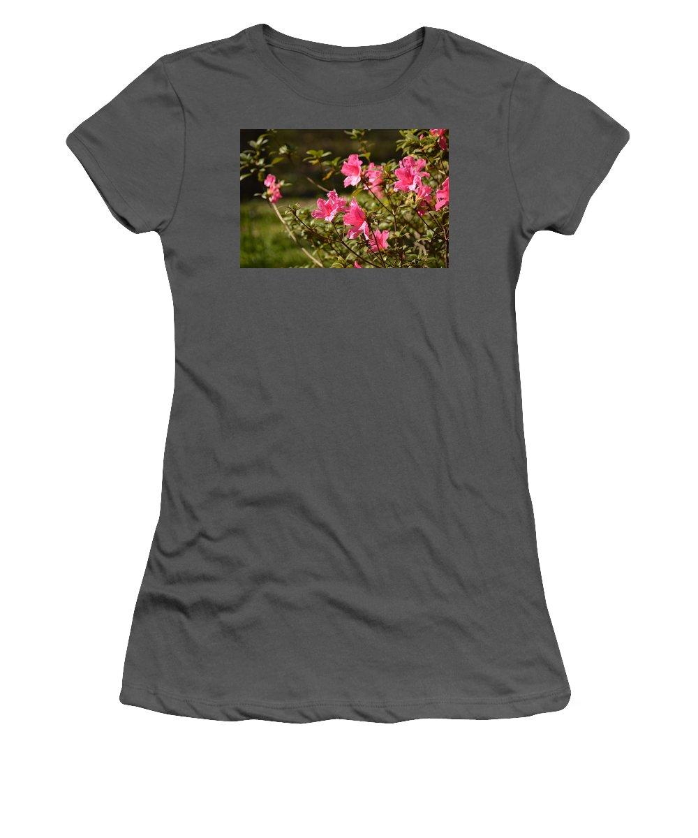 Florida Women's T-Shirt (Athletic Fit) featuring the photograph Azalea by Linda Kerkau