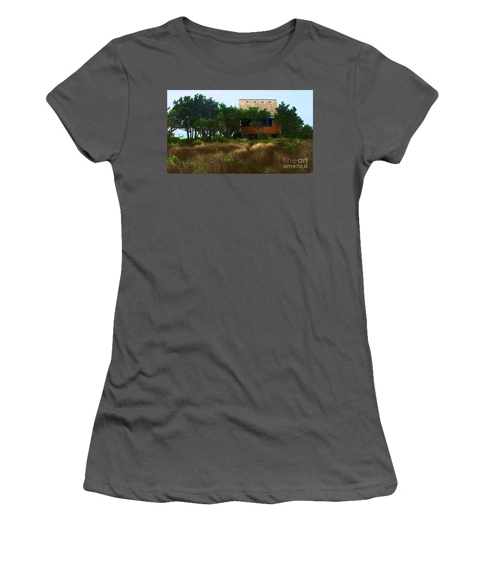 Beach Women's T-Shirt (Athletic Fit) featuring the photograph Back To The Island by Debbi Granruth