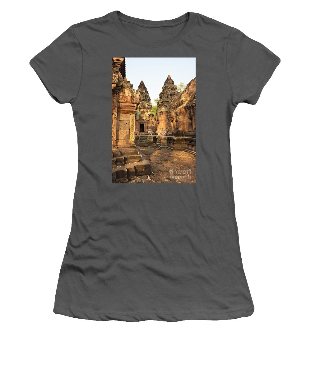 Religious Women's T-Shirt (Athletic Fit) featuring the photograph Banteay Srei, Cambodia by David Davis
