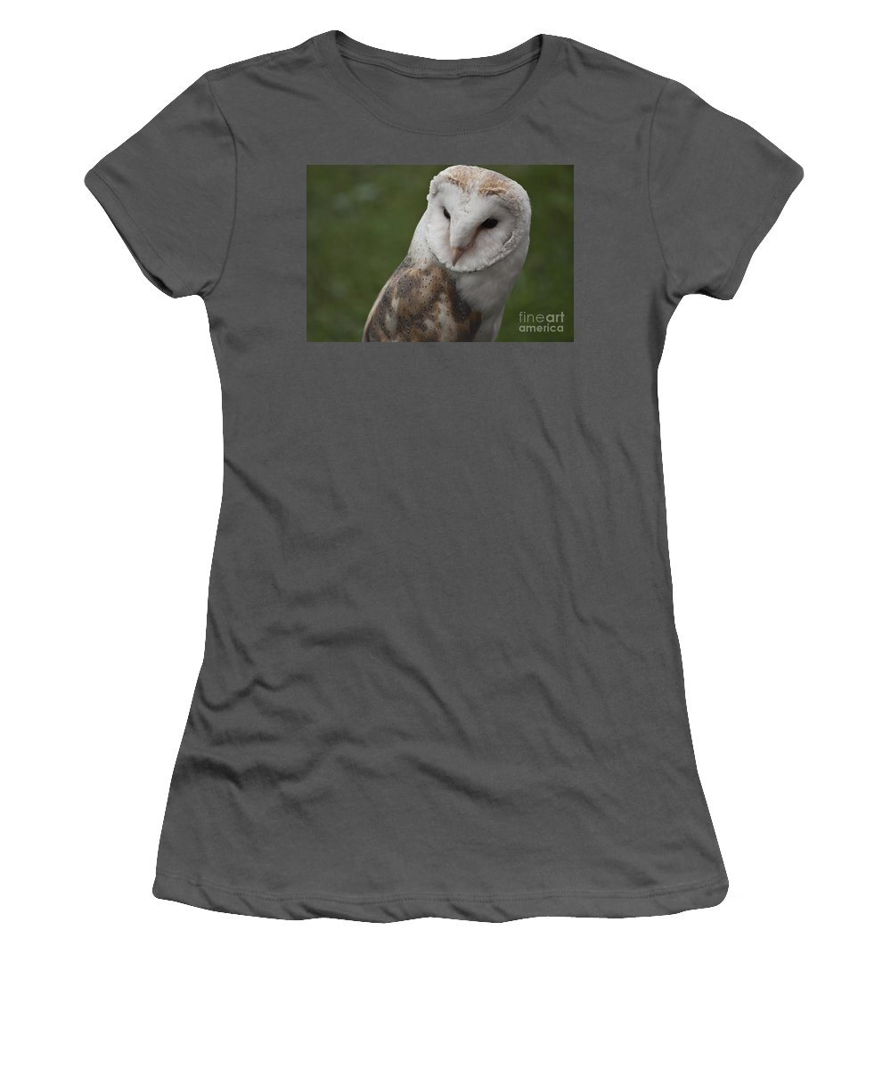Barn Owl Women's T-Shirt (Athletic Fit) featuring the photograph Barn Owl by Steve Purnell