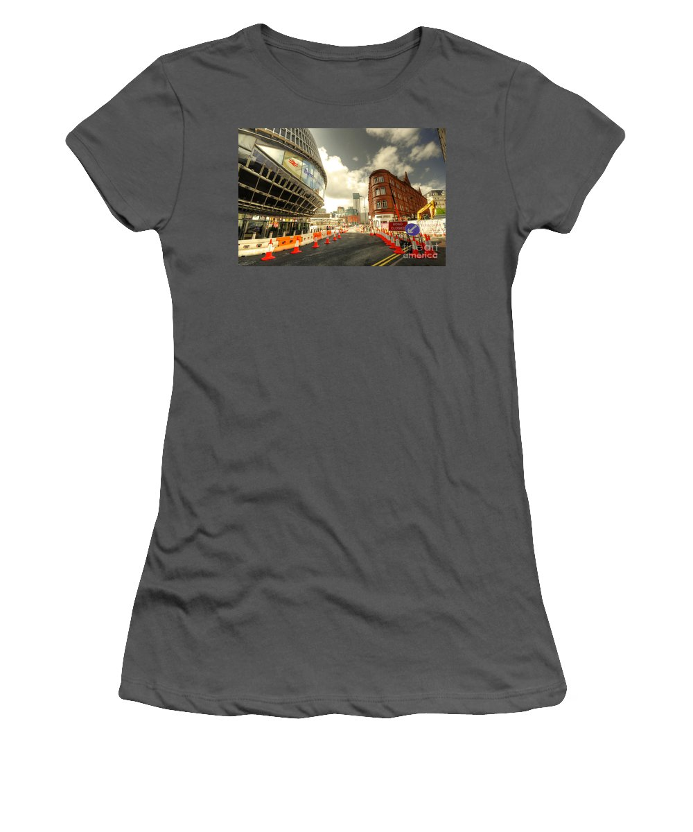 Birmingham Women's T-Shirt (Athletic Fit) featuring the photograph Birmingham New St by Rob Hawkins