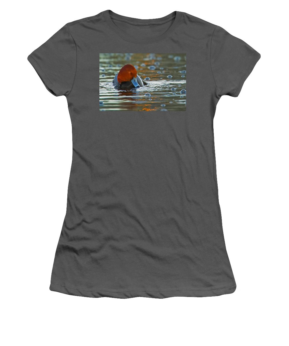 Water Women's T-Shirt (Athletic Fit) featuring the photograph Blowing Bubbles by Jack Milchanowski