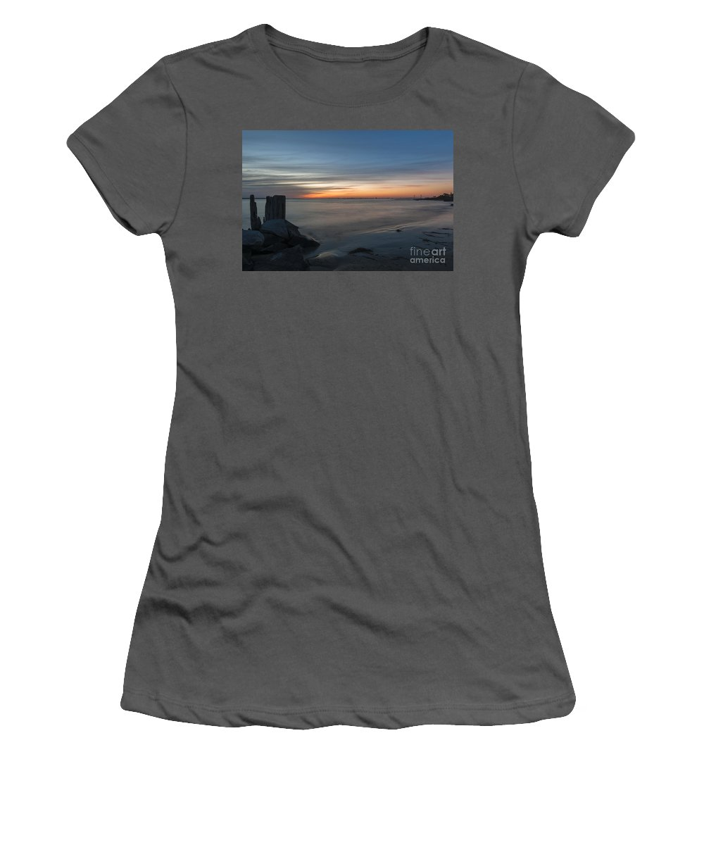 Sunset Women's T-Shirt (Athletic Fit) featuring the photograph Bridge View by Dale Powell