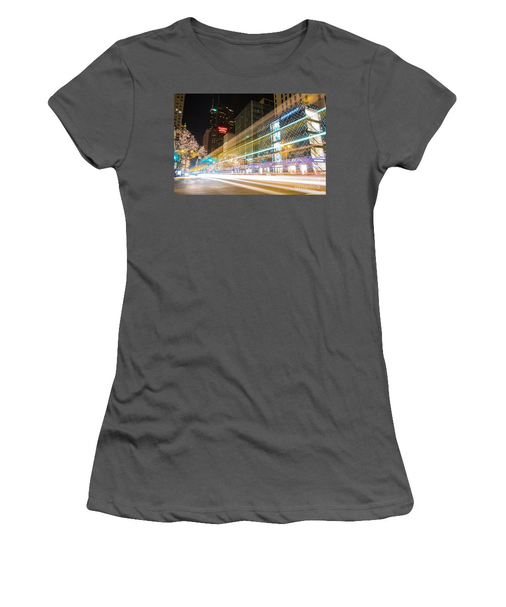 Allerton Women's T-Shirt (Athletic Fit) featuring the photograph Burberry Zoom by Andrew Slater