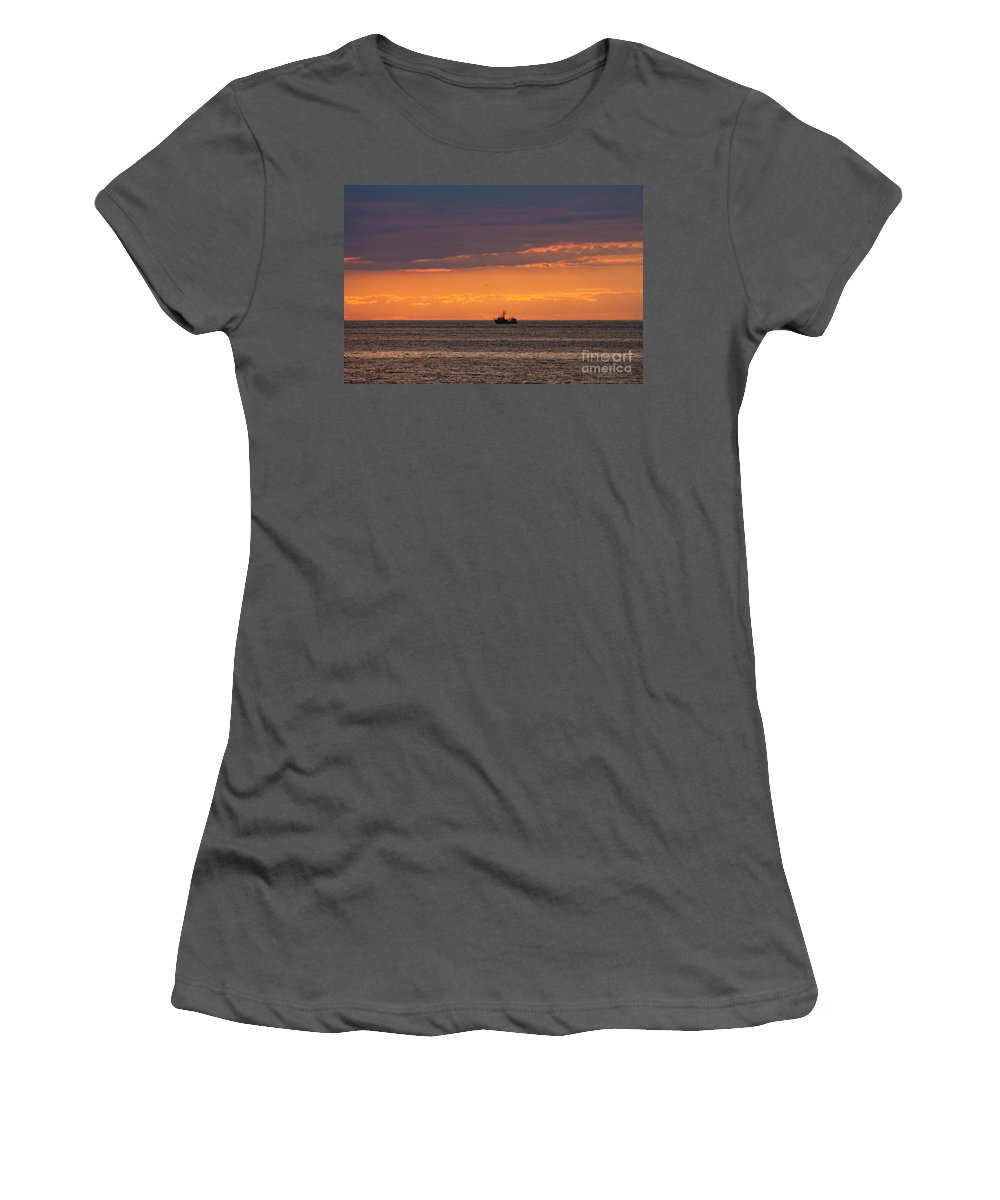 Cape Cod Women's T-Shirt (Athletic Fit) featuring the photograph Cape Cod Sunset by Thomas Marchessault