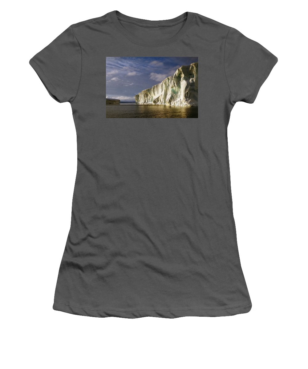 Vast Women's T-Shirt (Athletic Fit) featuring the photograph Cape Roget Antarctica In The Midnight Sun by Carole-Anne Fooks