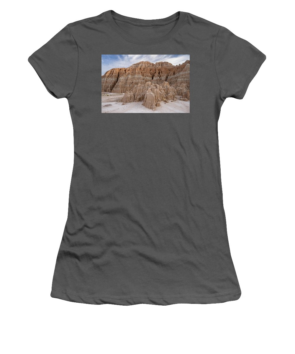 Cathedral Gorge Women's T-Shirt (Athletic Fit) featuring the photograph Cathedral Gorge Morning by Greg Nyquist