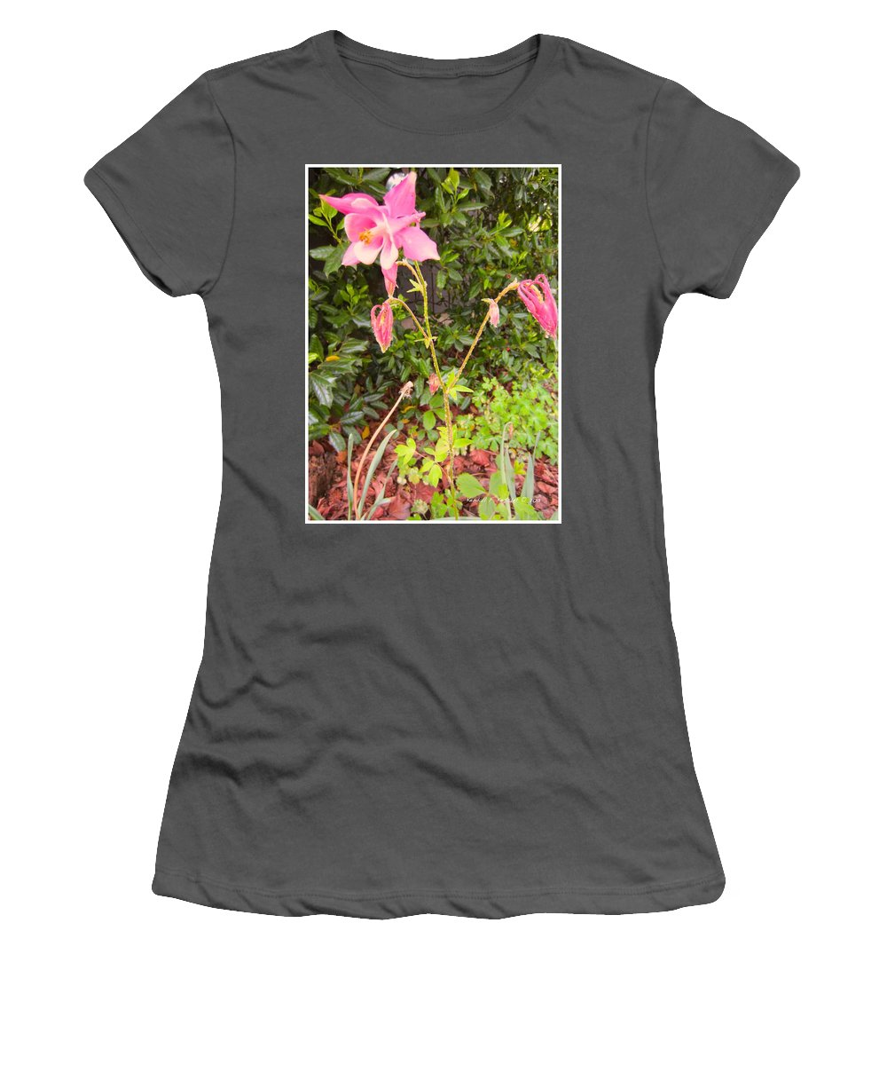 Columbine Women's T-Shirt (Athletic Fit) featuring the photograph Columbine Beauty by Kendall Kessler
