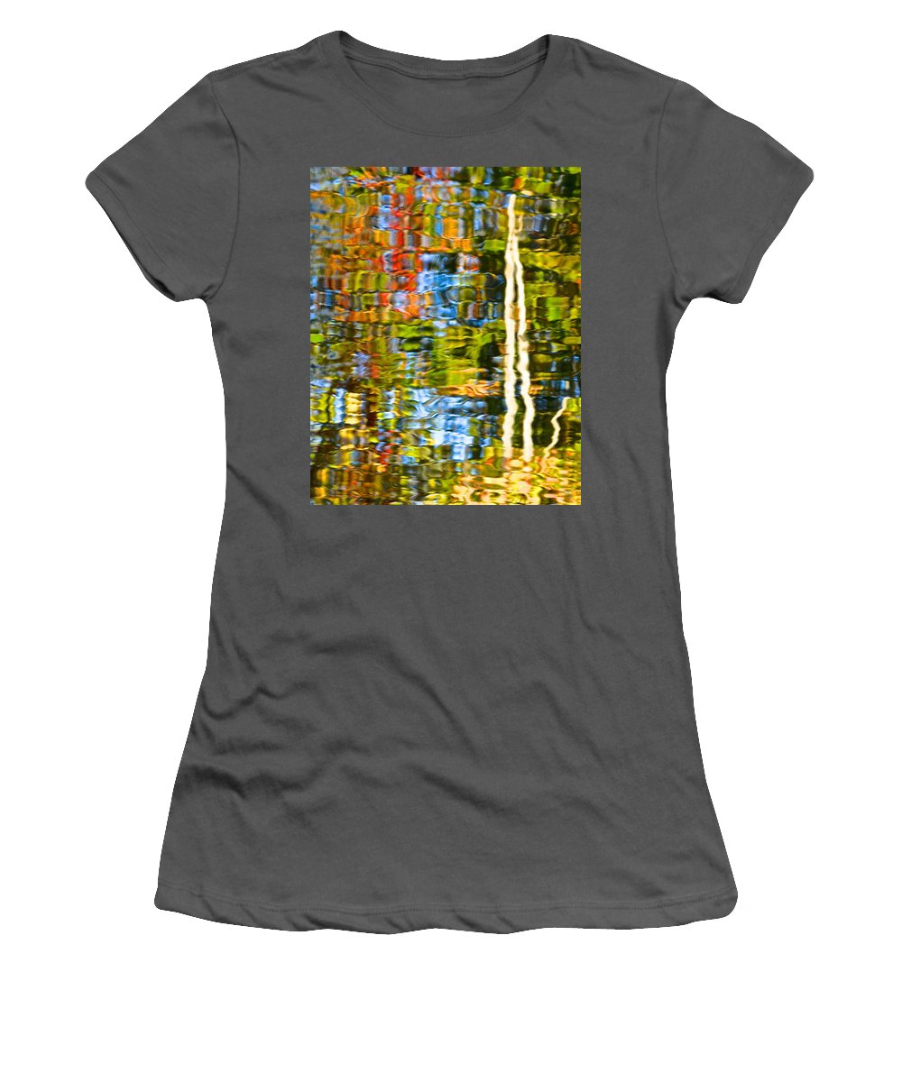 Water Women's T-Shirt (Athletic Fit) featuring the photograph Contorted Clarity by Frozen in Time Fine Art Photography