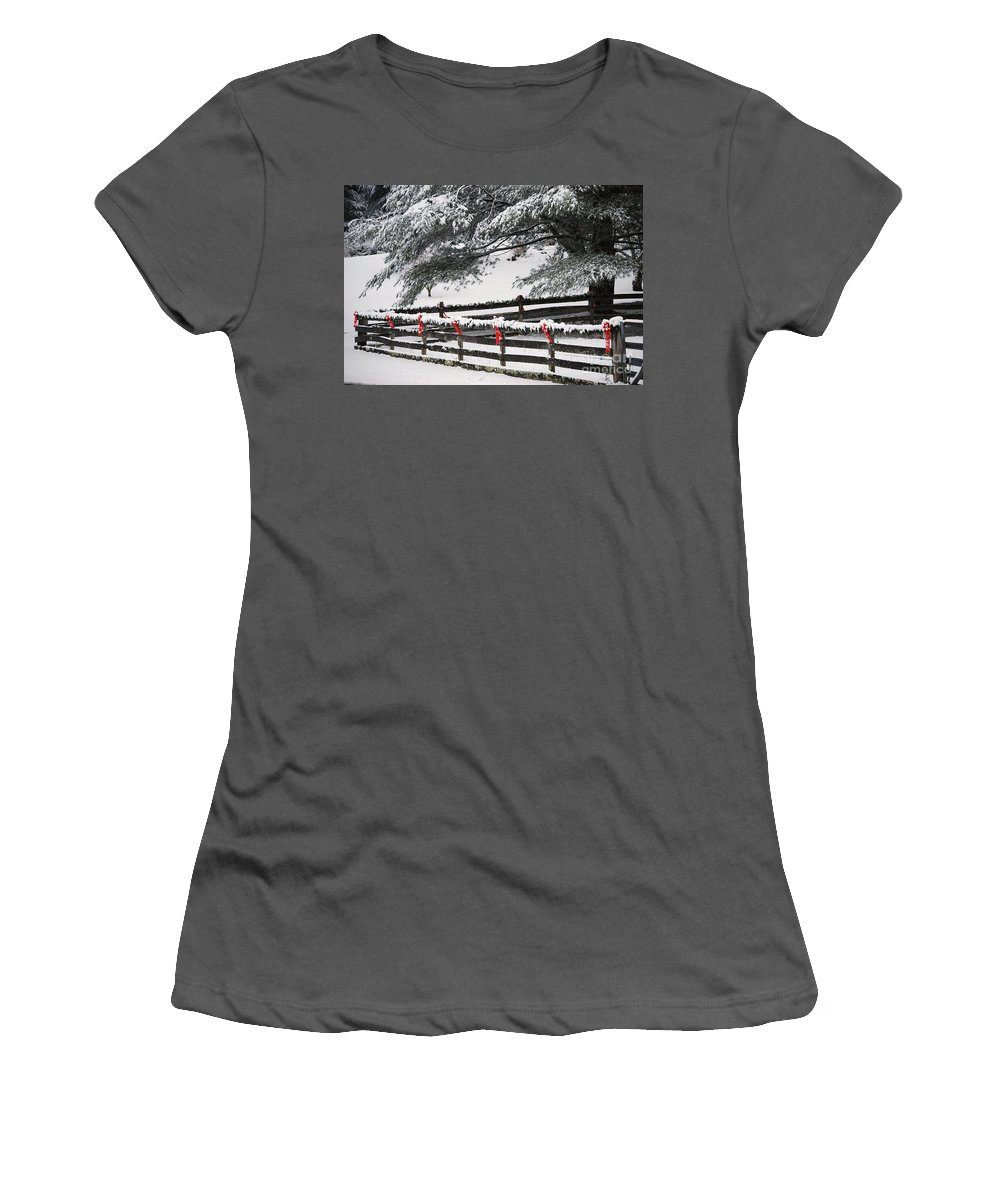 Virginia Women's T-Shirt (Athletic Fit) featuring the photograph Country Christmas by Eric Liller