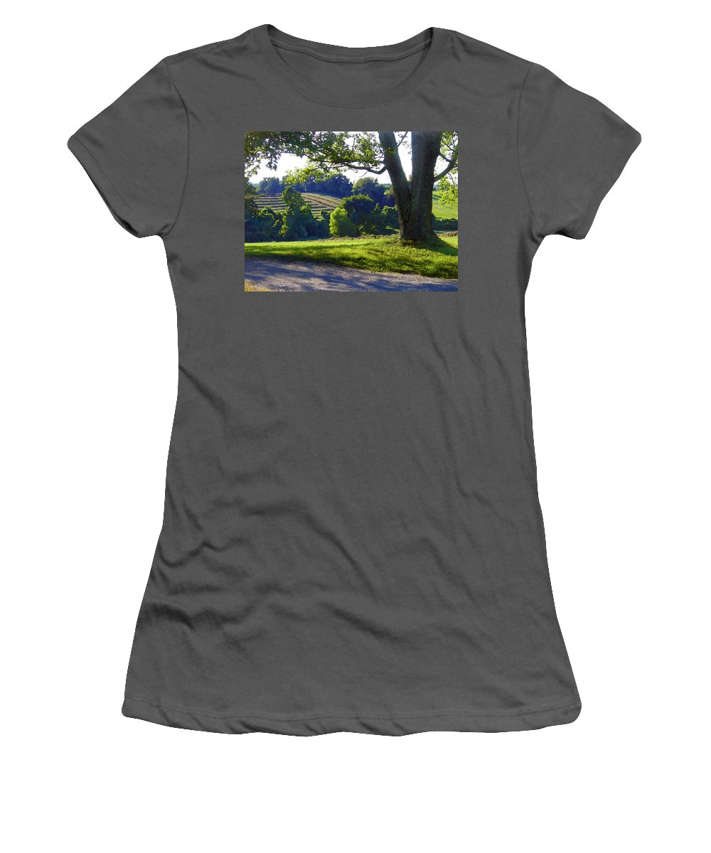 Landscape Women's T-Shirt (Athletic Fit) featuring the photograph Country Landscape by Steve Karol