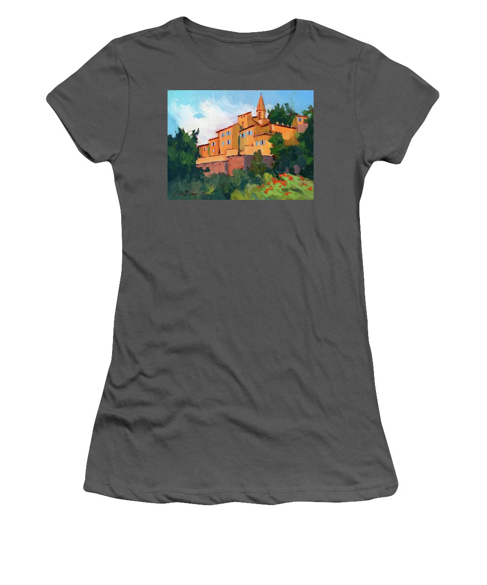 Crillon Le Brave Women's T-Shirt (Athletic Fit) featuring the painting Crillon Le Brave by Diane McClary