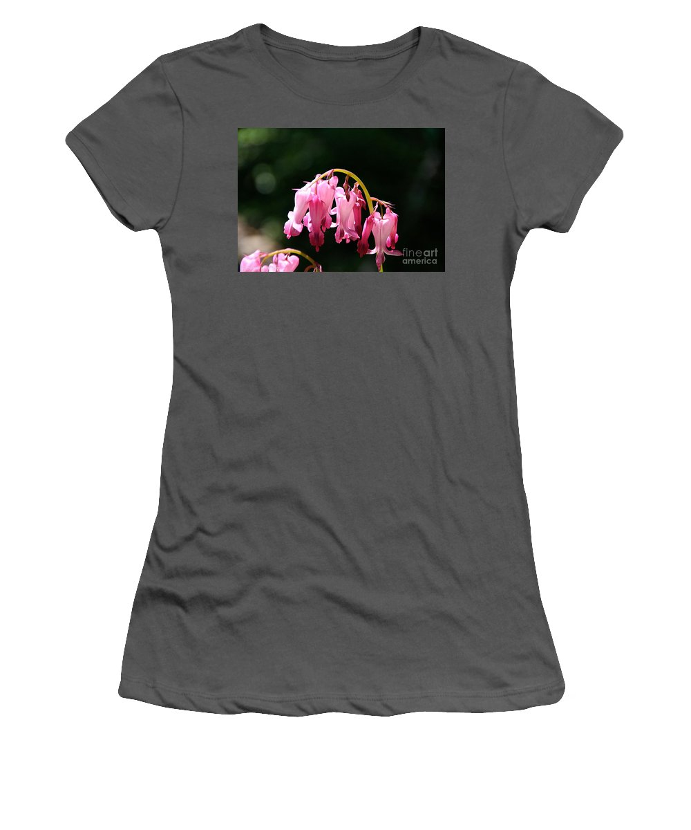 Flower Women's T-Shirt (Athletic Fit) featuring the photograph Dangle by Susan Herber
