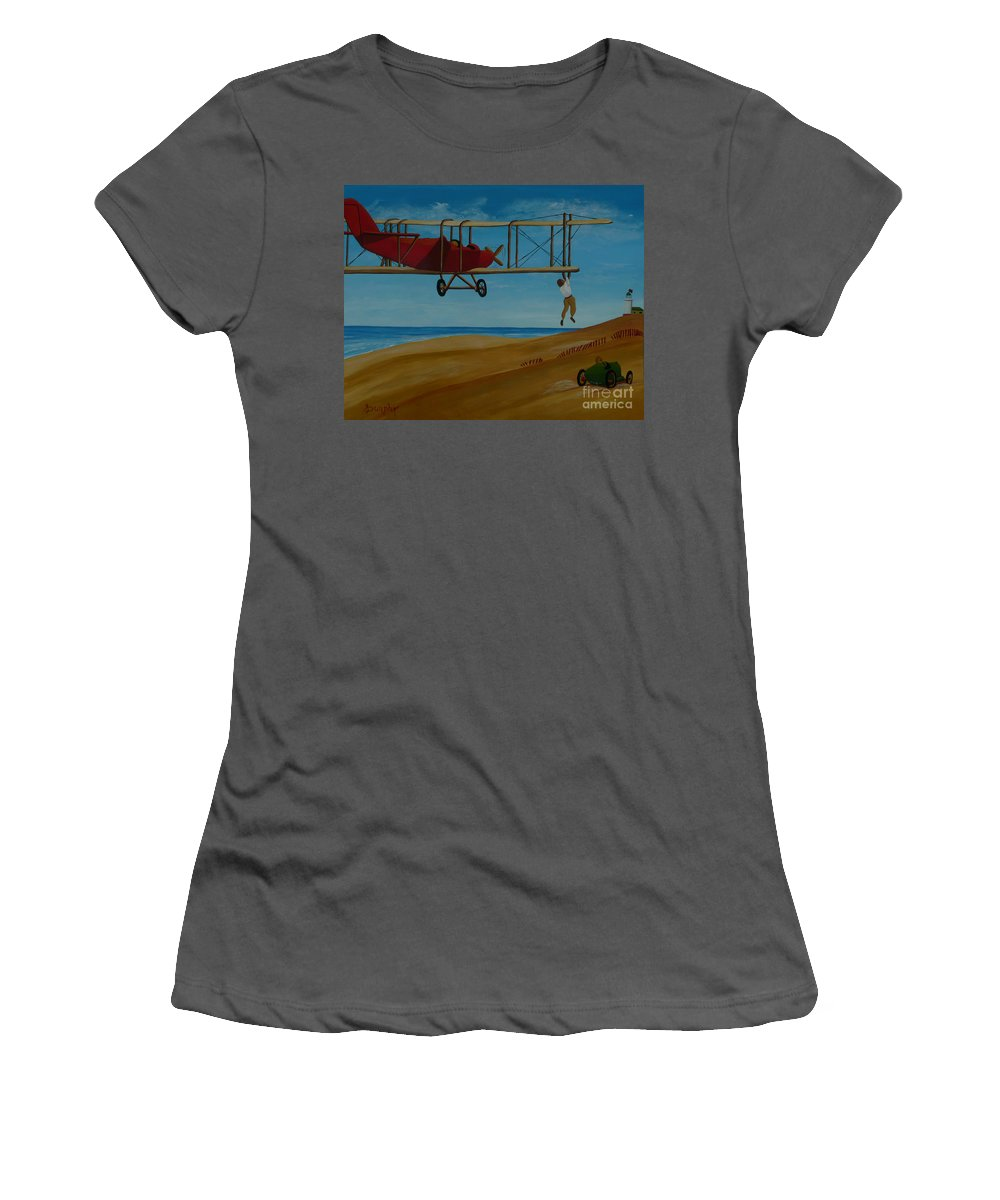 Daredevils Women's T-Shirt (Athletic Fit) featuring the painting Daredevils by Anthony Dunphy