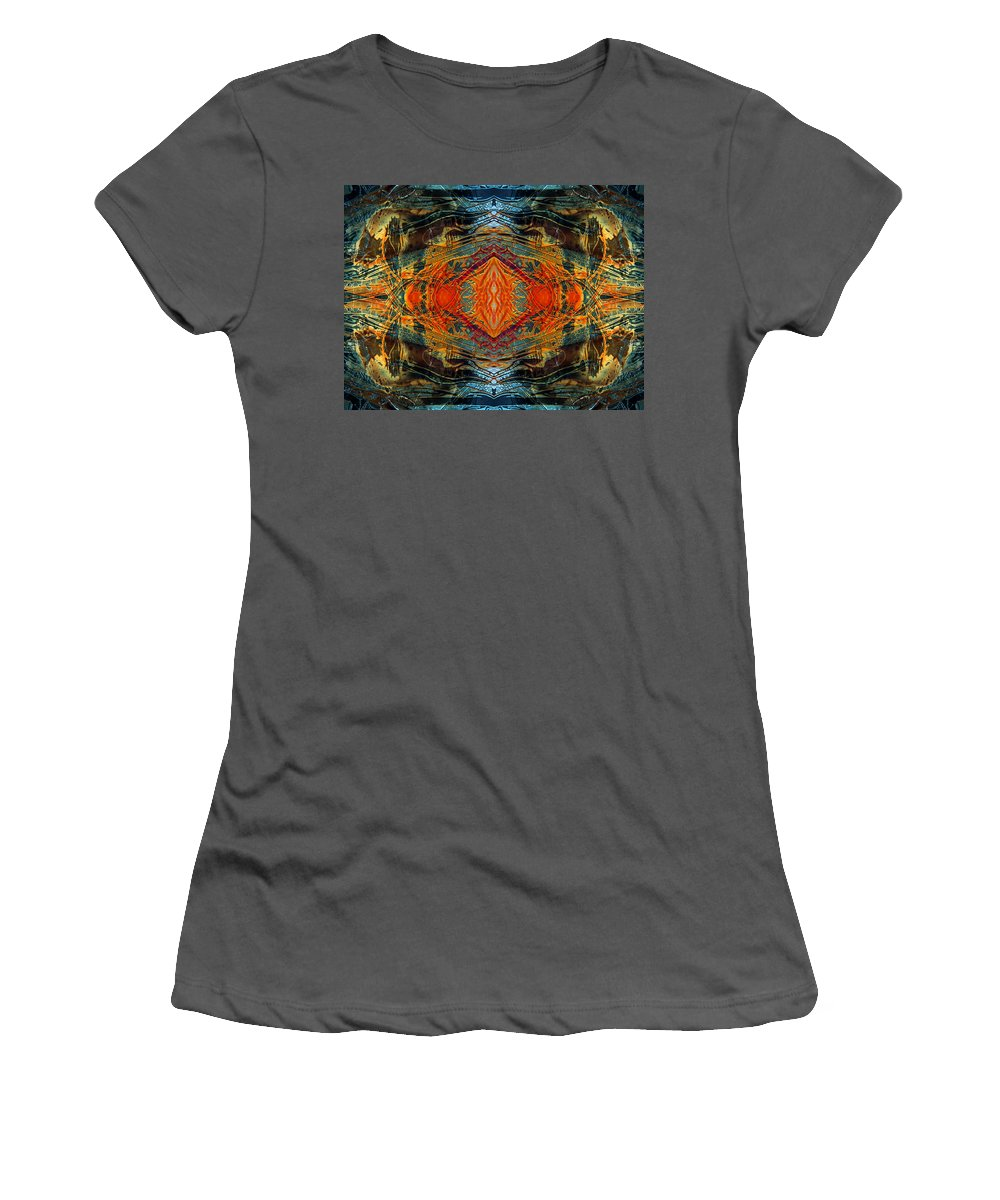 Surrealism Women's T-Shirt (Athletic Fit) featuring the digital art Decalcomaniac Intersection 2 by Otto Rapp
