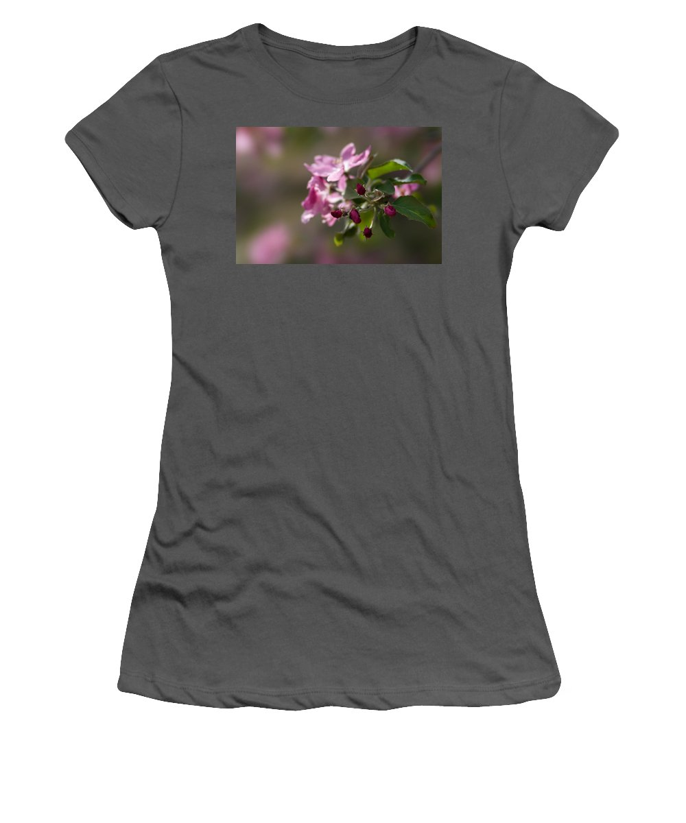 Flower Women's T-Shirt (Athletic Fit) featuring the photograph Deep Purple - Featured 3 by Alexander Senin