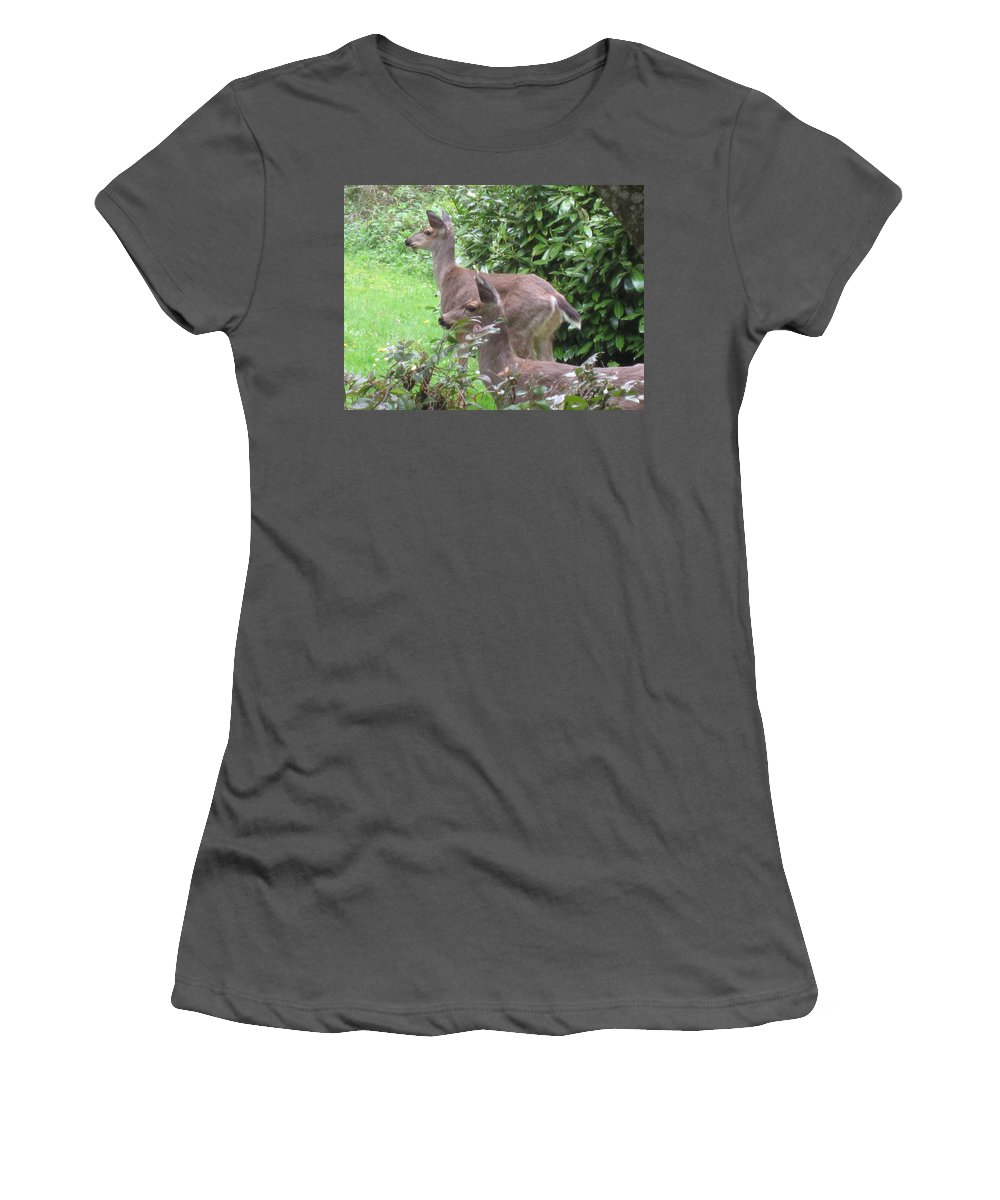 Animals Women's T-Shirt (Athletic Fit) featuring the photograph Do You See What I See by Kym Backland