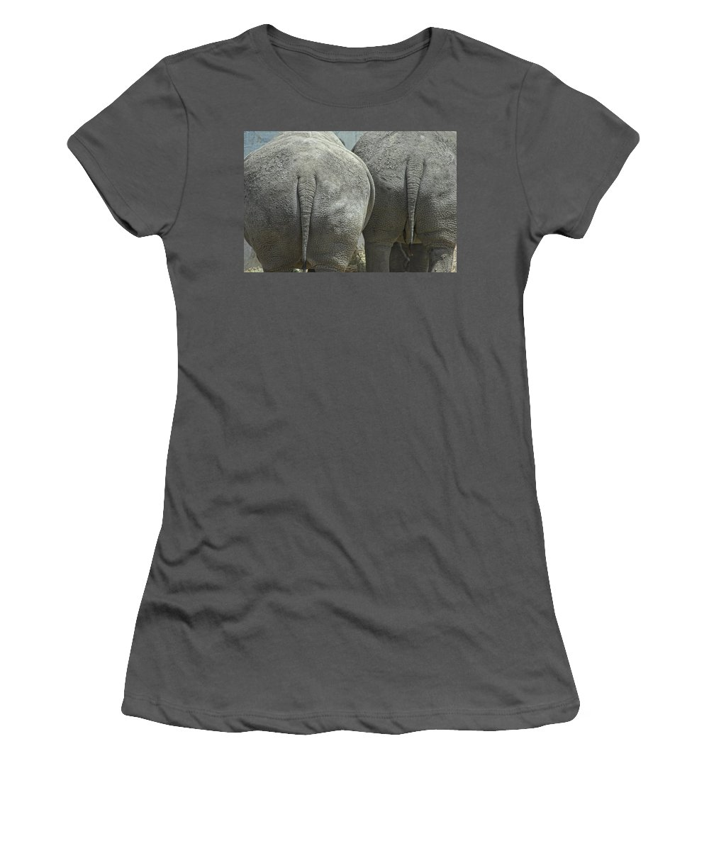 Animal Women's T-Shirt (Athletic Fit) featuring the photograph Does My Butt Look Big by Donna Blackhall