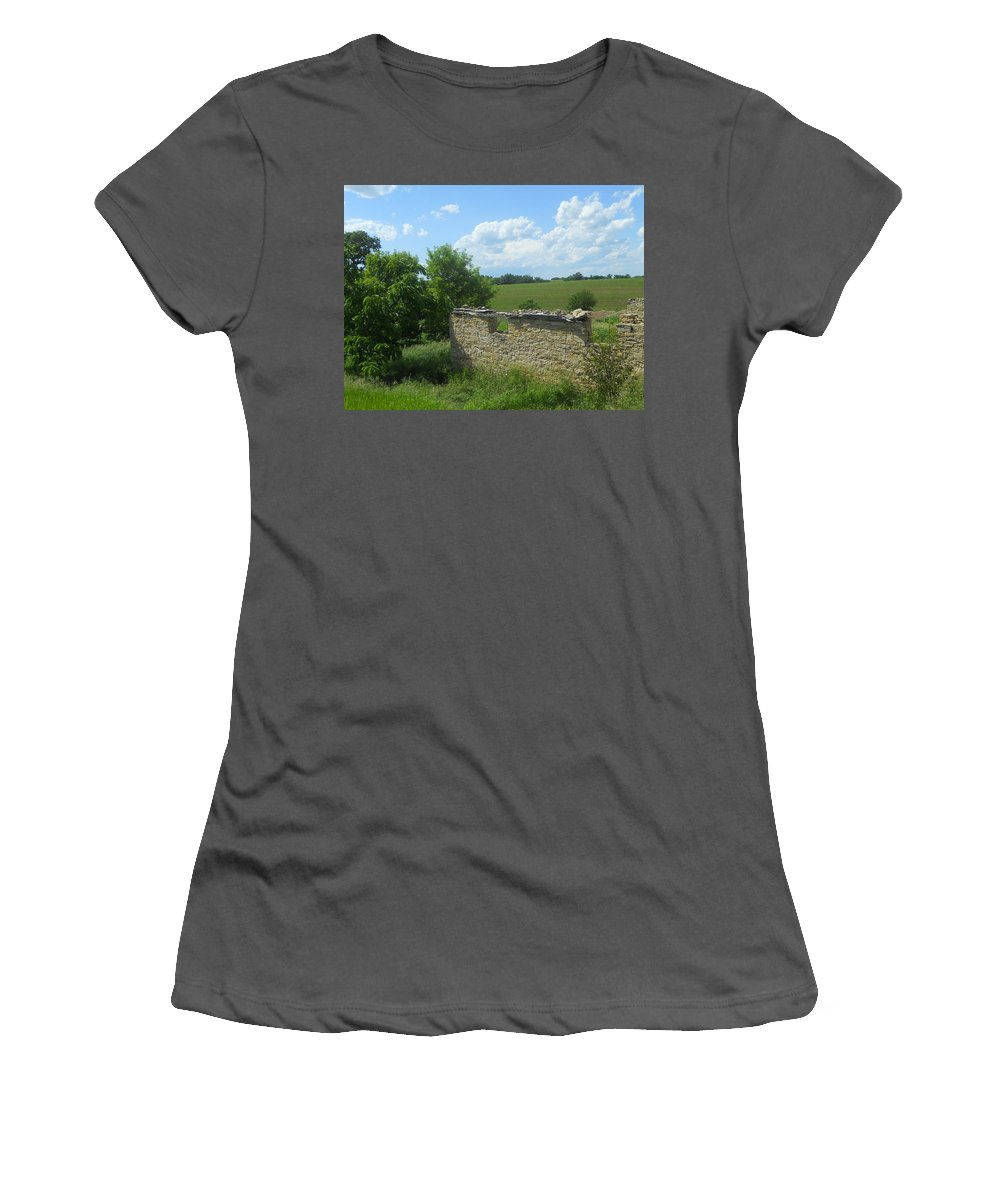 Landscape Women's T-Shirt (Athletic Fit) featuring the photograph Earlier Times by Coleen Harty