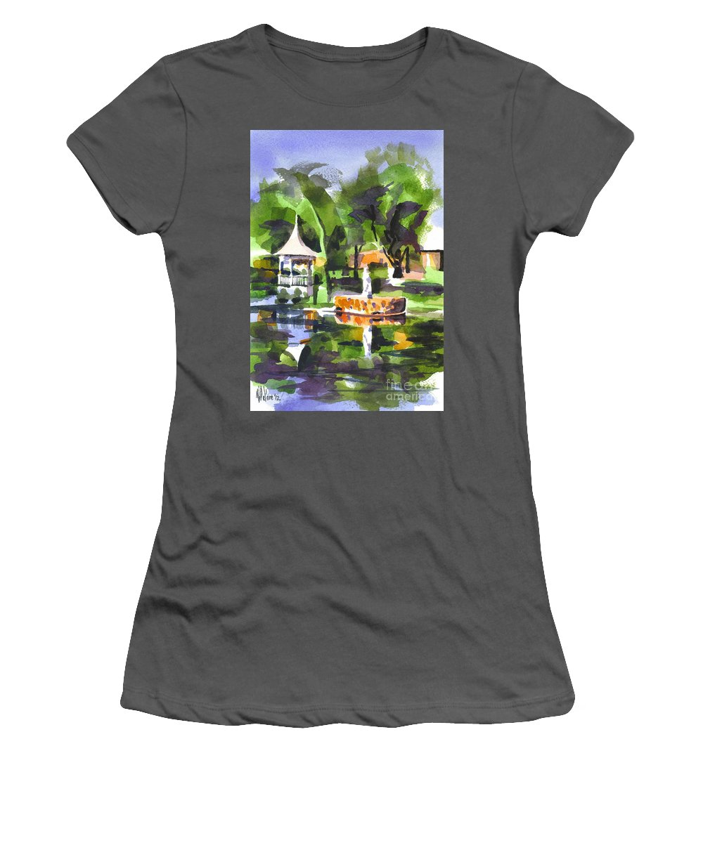 Emerald Isle Women's T-Shirt (Athletic Fit) featuring the painting Emerald Isle by Kip DeVore