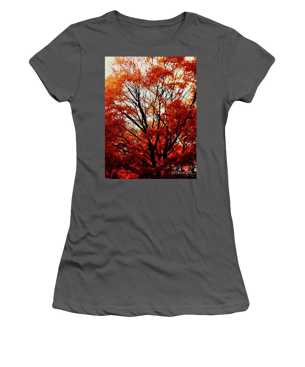 Fall Women's T-Shirt (Athletic Fit) featuring the photograph Fall Colors Cape May Nj by Eric Schiabor