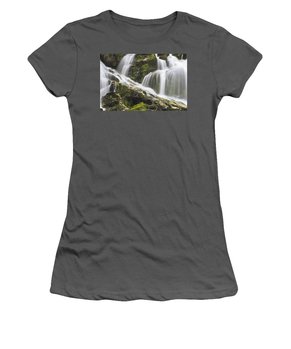 Feb0514 Women's T-Shirt (Athletic Fit) featuring the photograph Falls On Sauk River Washington by Gerry Ellis