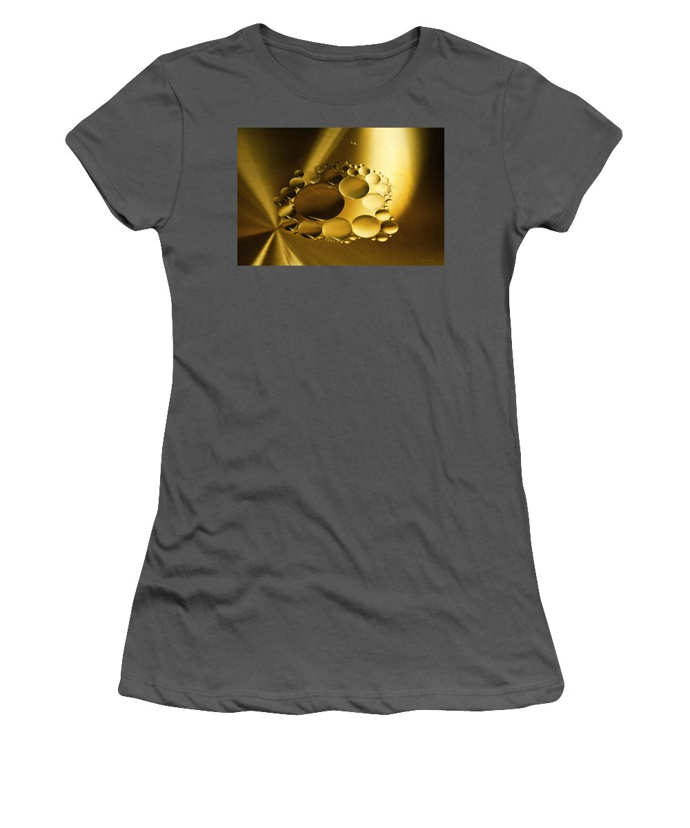 Oil Women's T-Shirt (Athletic Fit) featuring the photograph Floating Beauty by Angela Stanton