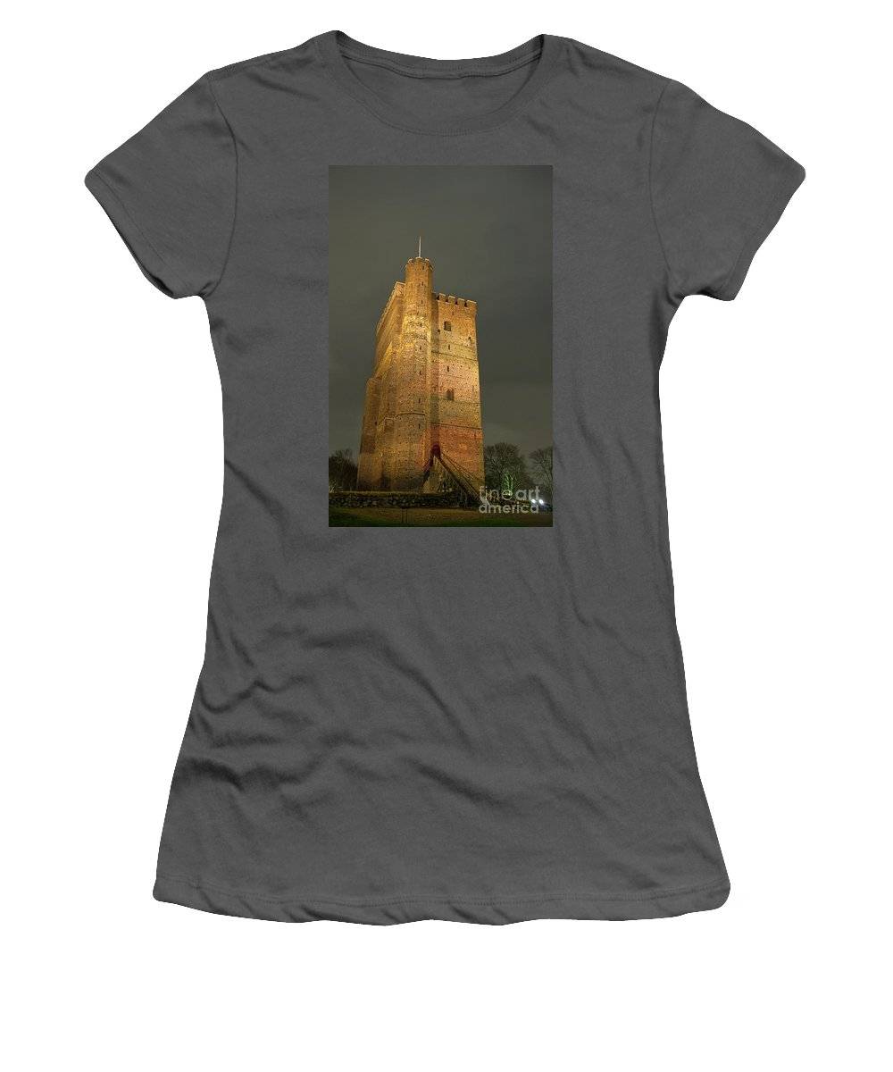 Illuminated Women's T-Shirt (Athletic Fit) featuring the photograph Floodlit Karnan 01 by Antony McAulay