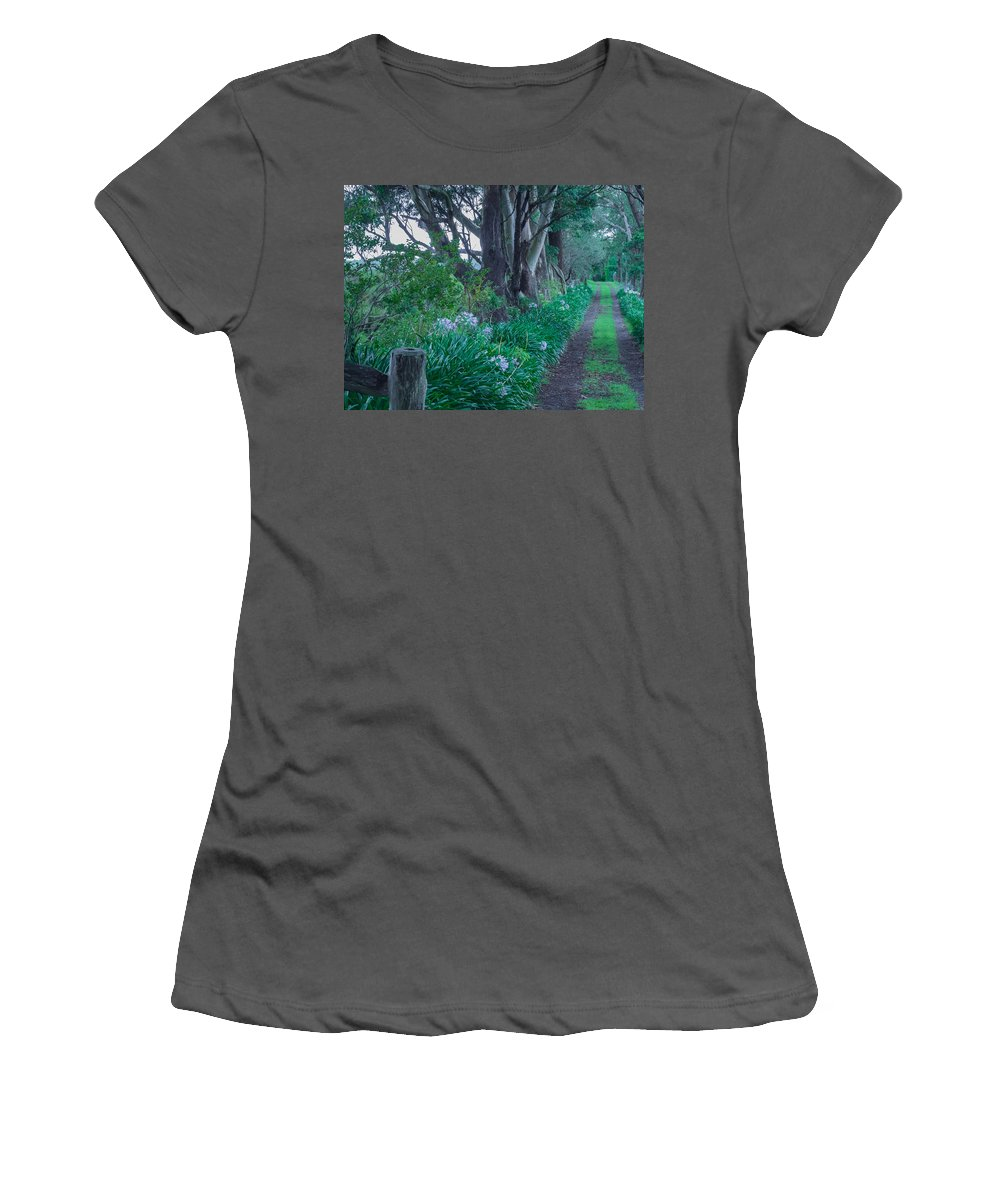 Forest Women's T-Shirt (Athletic Fit) featuring the photograph Forested Path by Kaleidoscopik Photography
