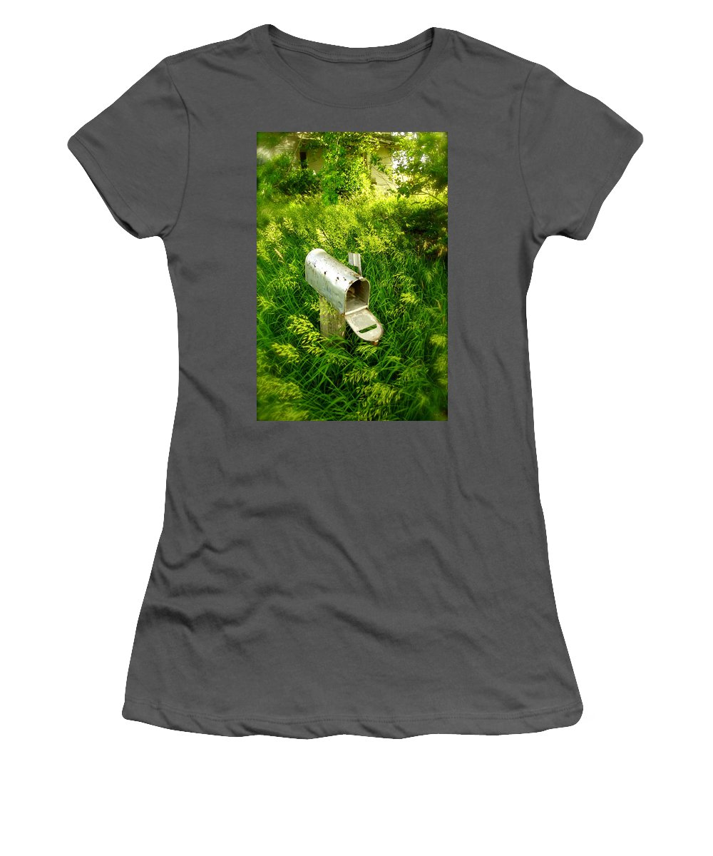 Photography Women's T-Shirt (Athletic Fit) featuring the photograph Forgotten Mail 0628 by Timothy Bischoff