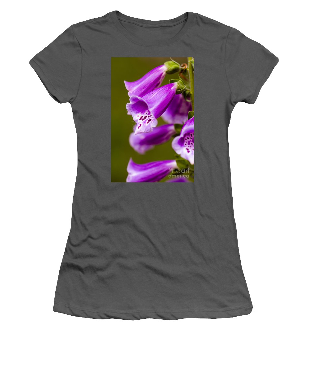 Hang Women's T-Shirt (Athletic Fit) featuring the photograph Foxglove Flower by Michael Moriarty