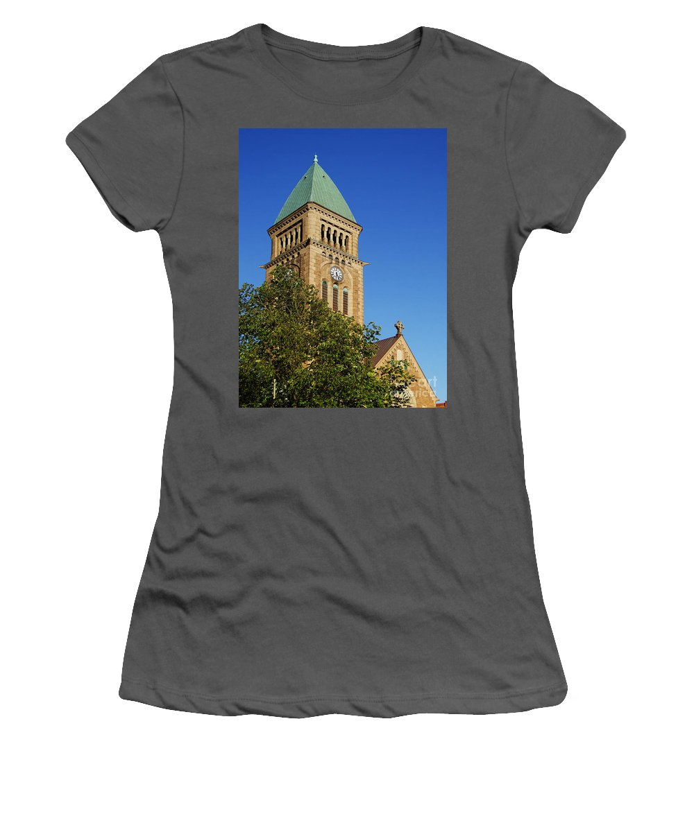 Church Women's T-Shirt (Athletic Fit) featuring the photograph Gothenburg Church 05 by Antony McAulay