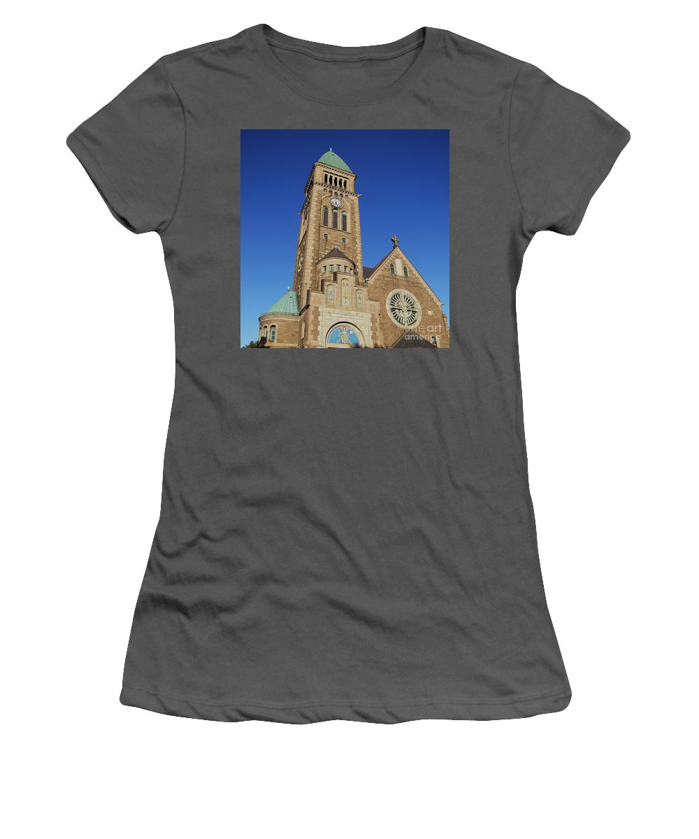 Church Women's T-Shirt (Athletic Fit) featuring the photograph Gothenburg Church 07 by Antony McAulay