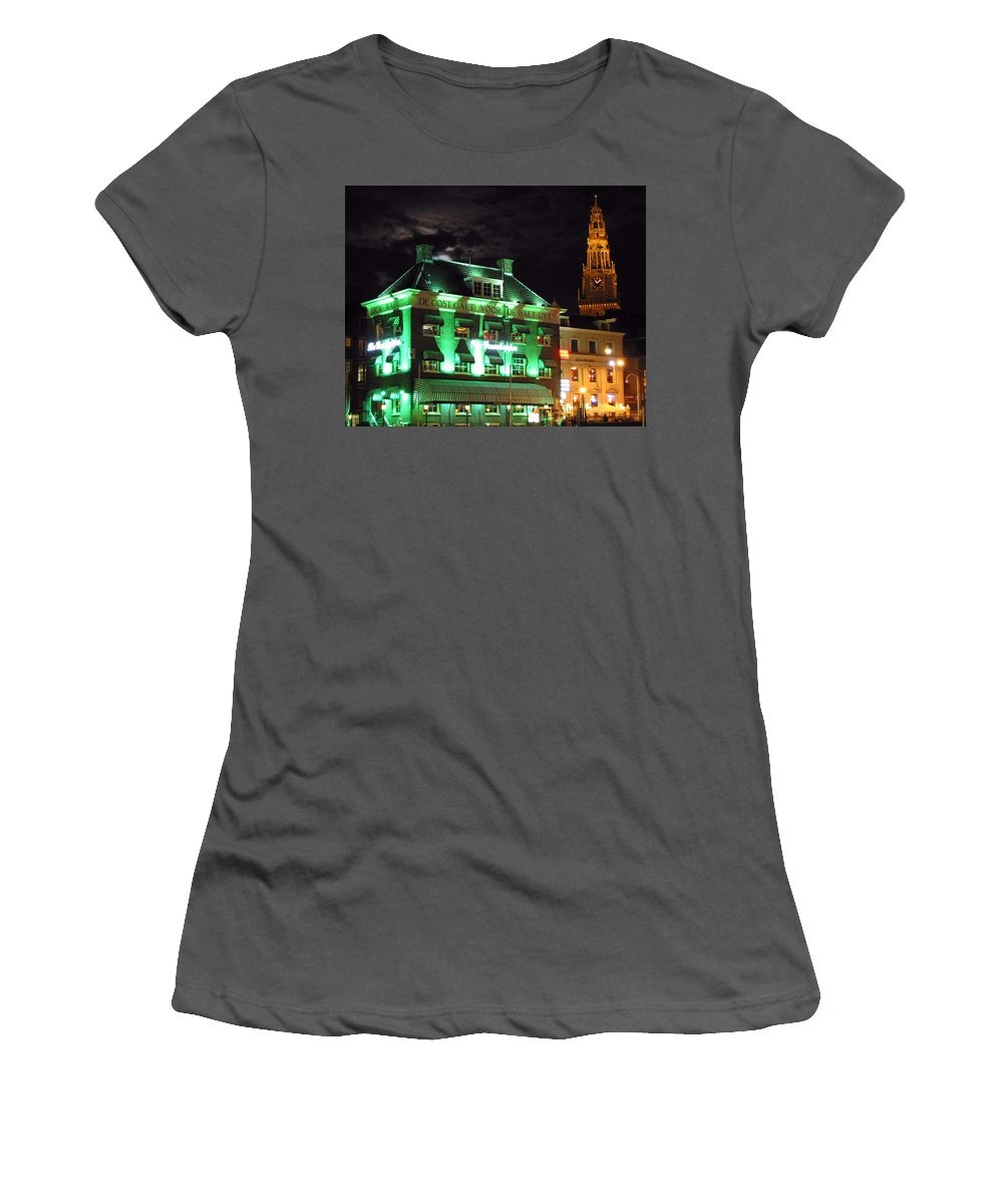 3scape Women's T-Shirt (Athletic Fit) featuring the photograph Grasshopper Bar by Adam Romanowicz