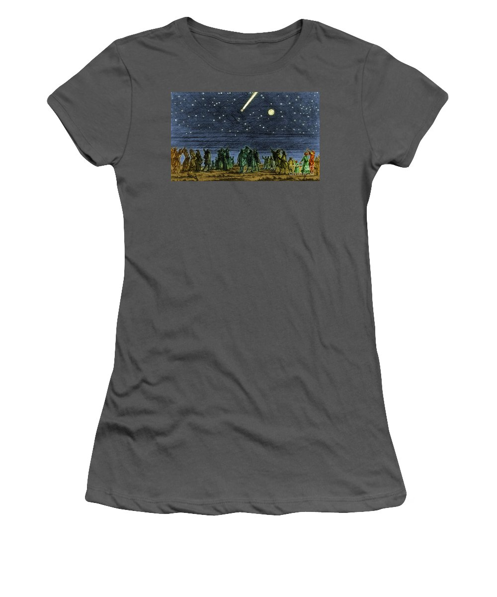 Science Women's T-Shirt (Athletic Fit) featuring the photograph Halleys Comet 1682 by Science Source