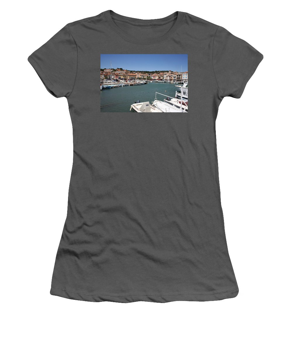 Harbor Women's T-Shirt (Athletic Fit) featuring the photograph Harbor Cassis by Christiane Schulze Art And Photography