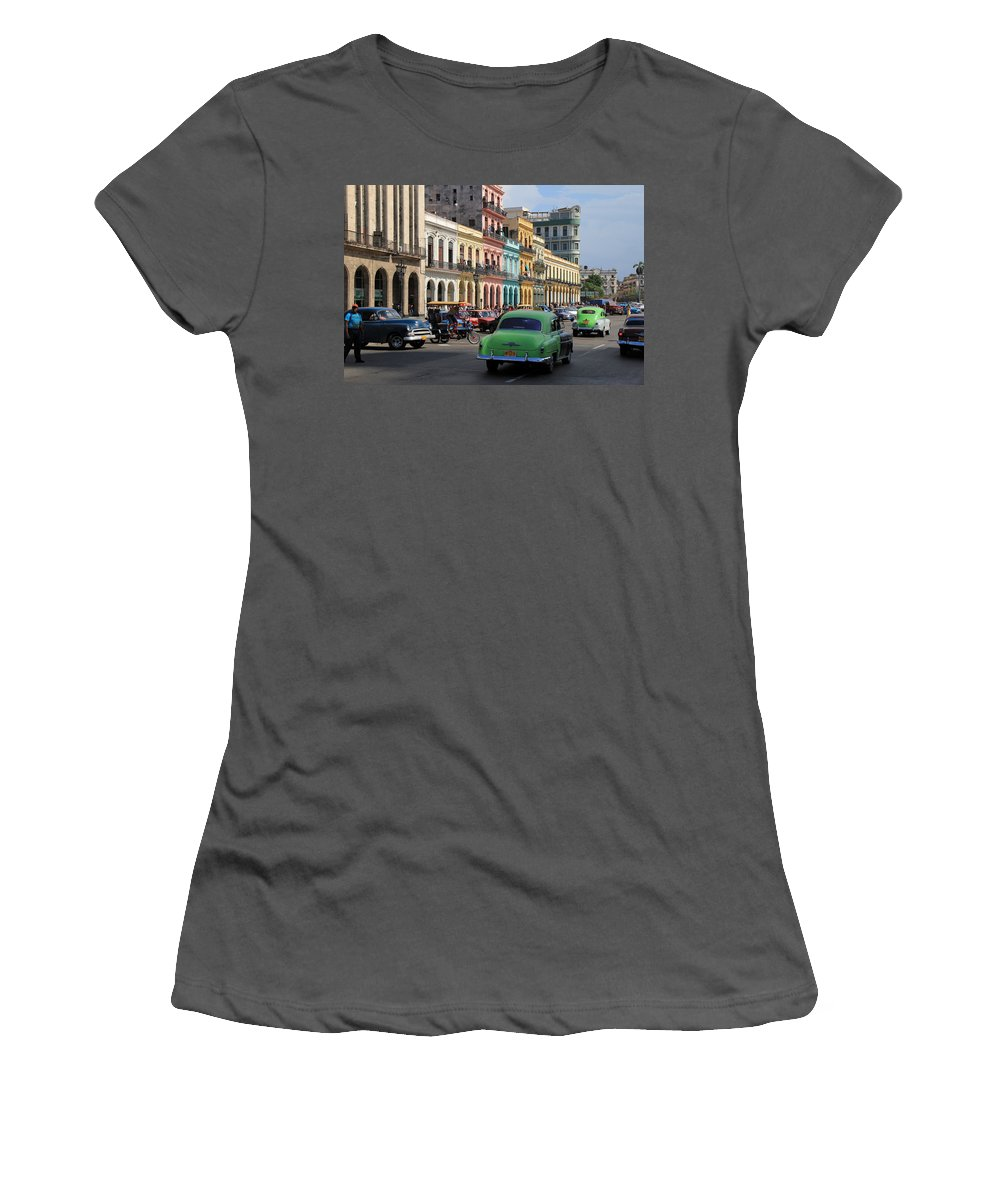Havana Women's T-Shirt (Athletic Fit) featuring the photograph Havana 22 by Andrew Fare