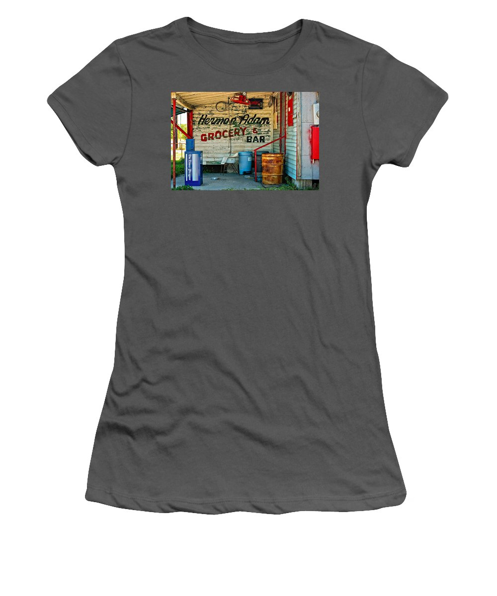 New Orleans Women's T-Shirt (Athletic Fit) featuring the photograph Herman Had It All by Steve Harrington