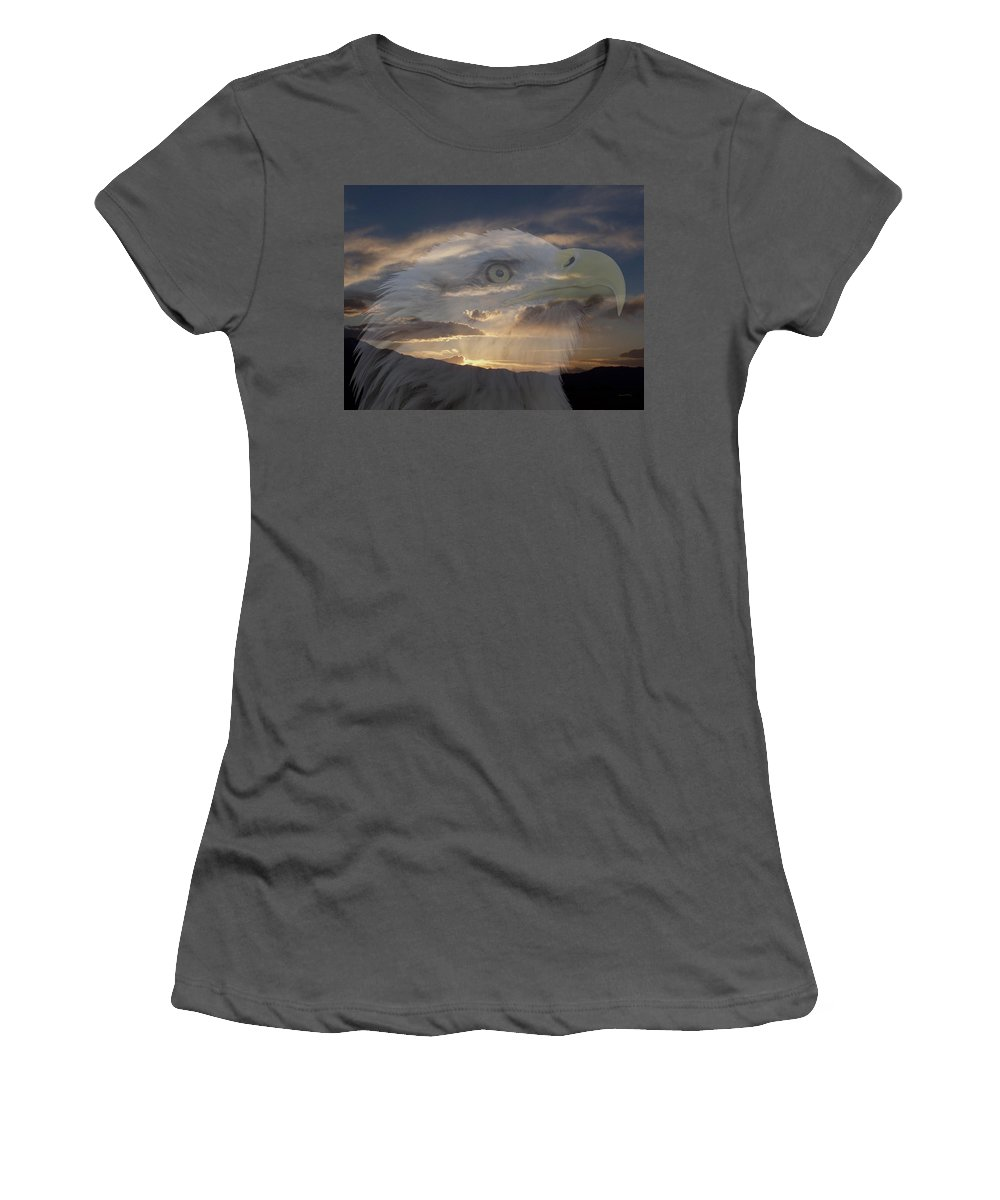 Animals Women's T-Shirt (Athletic Fit) featuring the photograph Imagine by Ernie Echols