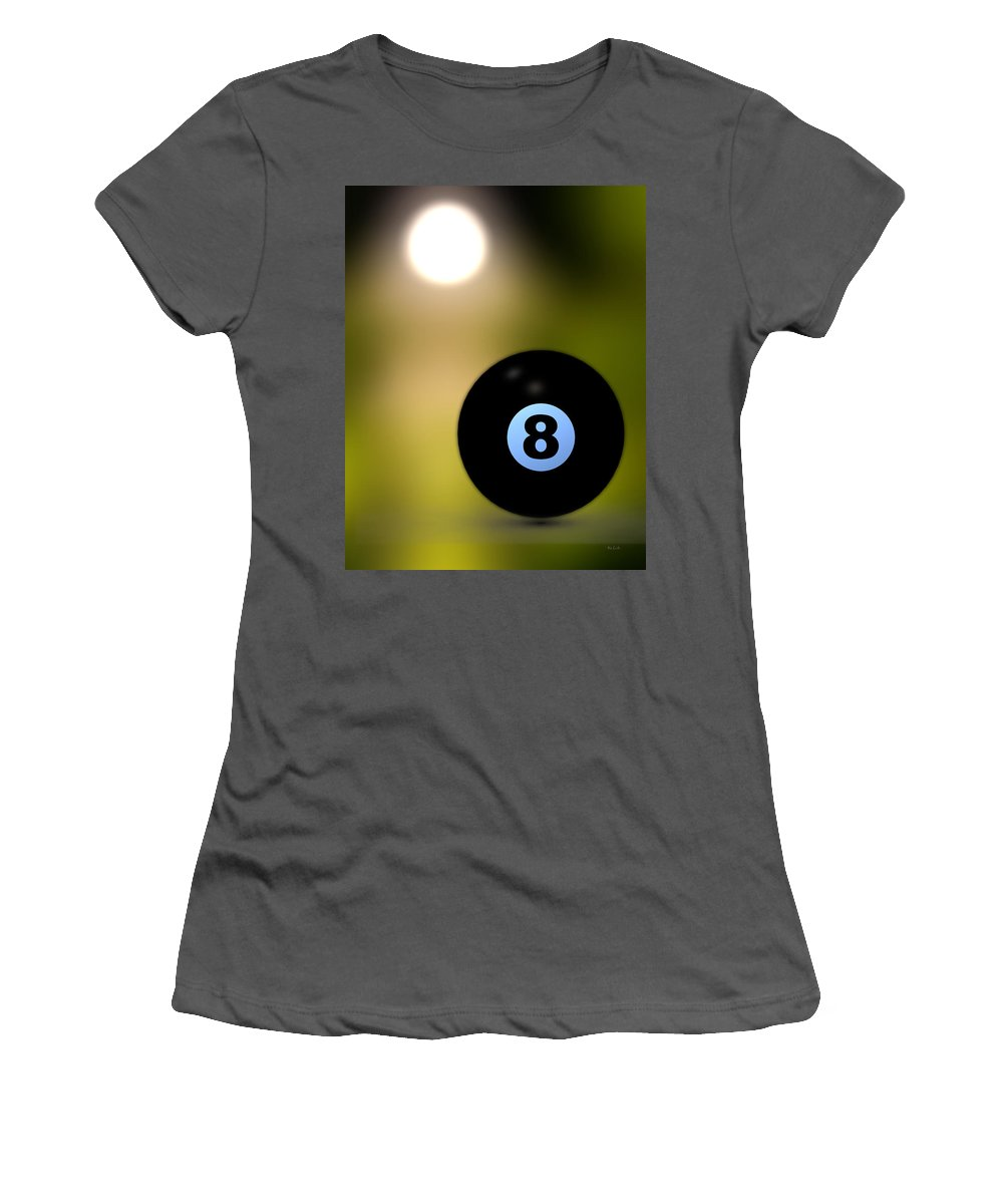 8 Ball Women's T-Shirt (Athletic Fit) featuring the photograph In Front Of The Eight Ball by Bob Orsillo