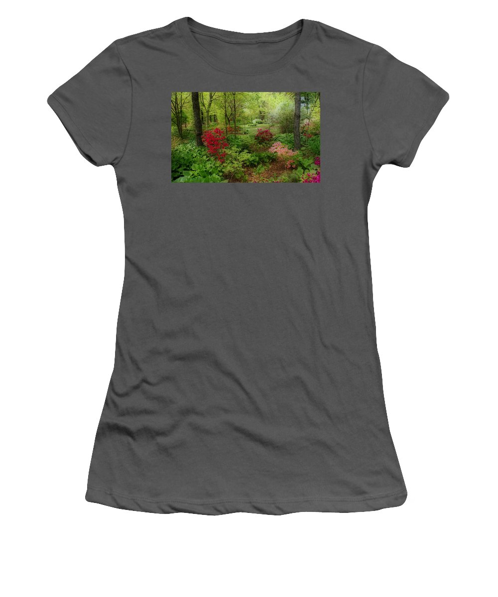 Gardens Women's T-Shirt (Athletic Fit) featuring the photograph In My Dreams by Sandy Keeton