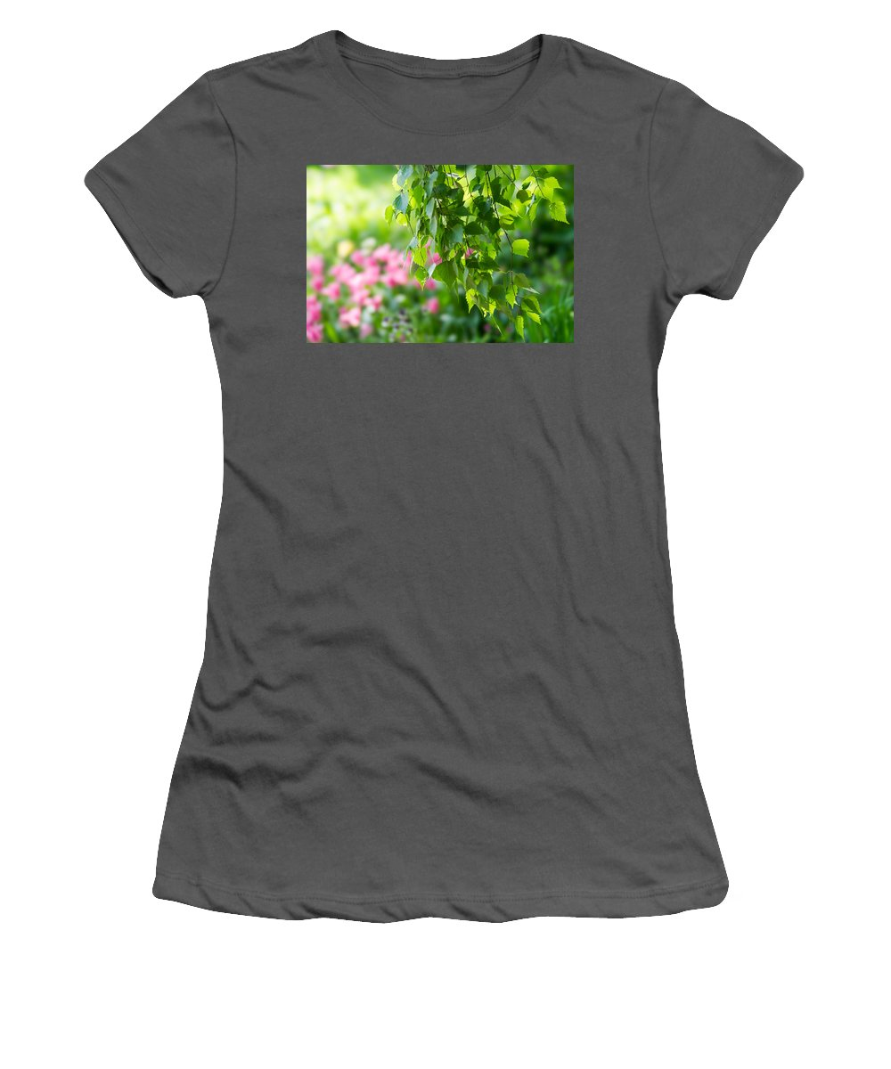 Abstract Women's T-Shirt (Athletic Fit) featuring the photograph In The Garden by Alexander Senin